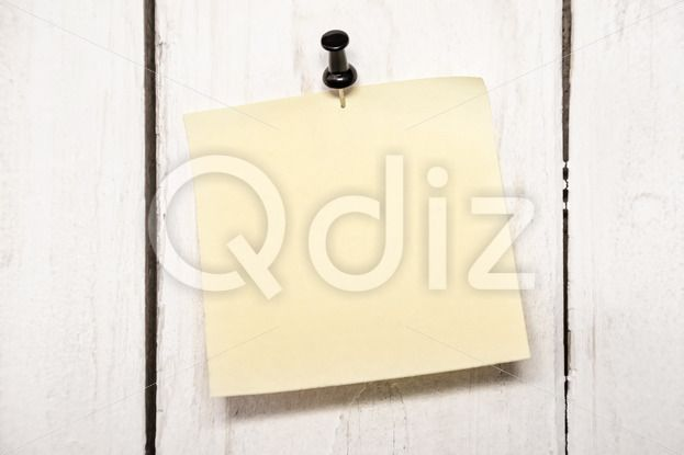 Qdiz Stock Photos Blank note paper with pin, #background #blank - blank memo
