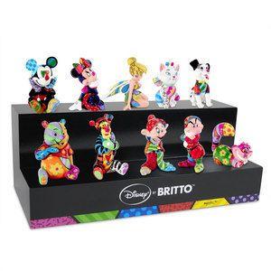 Romero Britto Complete Set Of 10 Authentic Disney Britto Mini S