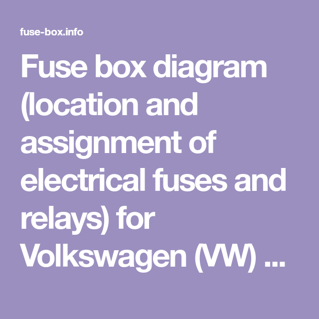 Fuse Box Diagram Location And Assignment Of Electrical Fuses And Relays For Volkswagen Vw Tiguan 2008 2009 2010 2011 2 Fuse Box Benz C Electrical Fuse
