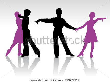 Couple Dancing Salsa Logo Men/'s Tee Image by Shutterstock