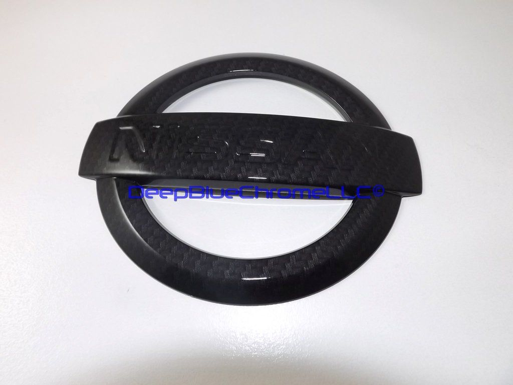 Nissan Rogue Carbon Fiber Emblem 20142016 Badge Genuine