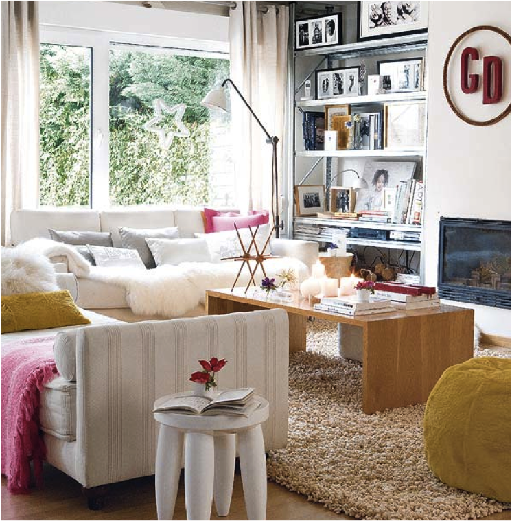 Glam, Modern Eclectic Living Room