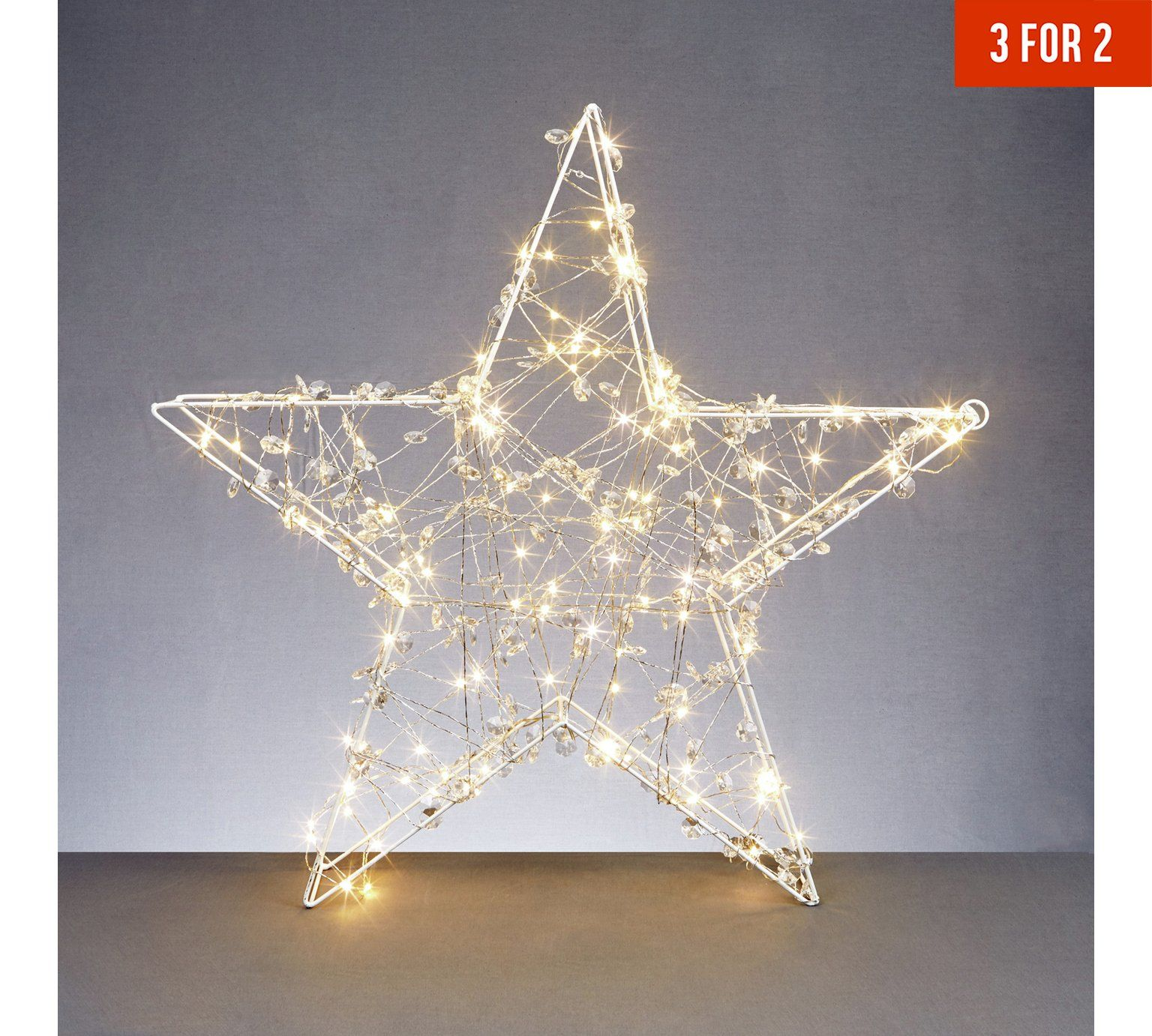 Buy Premier Decorations 1x1m 300 Led Copper Star Light