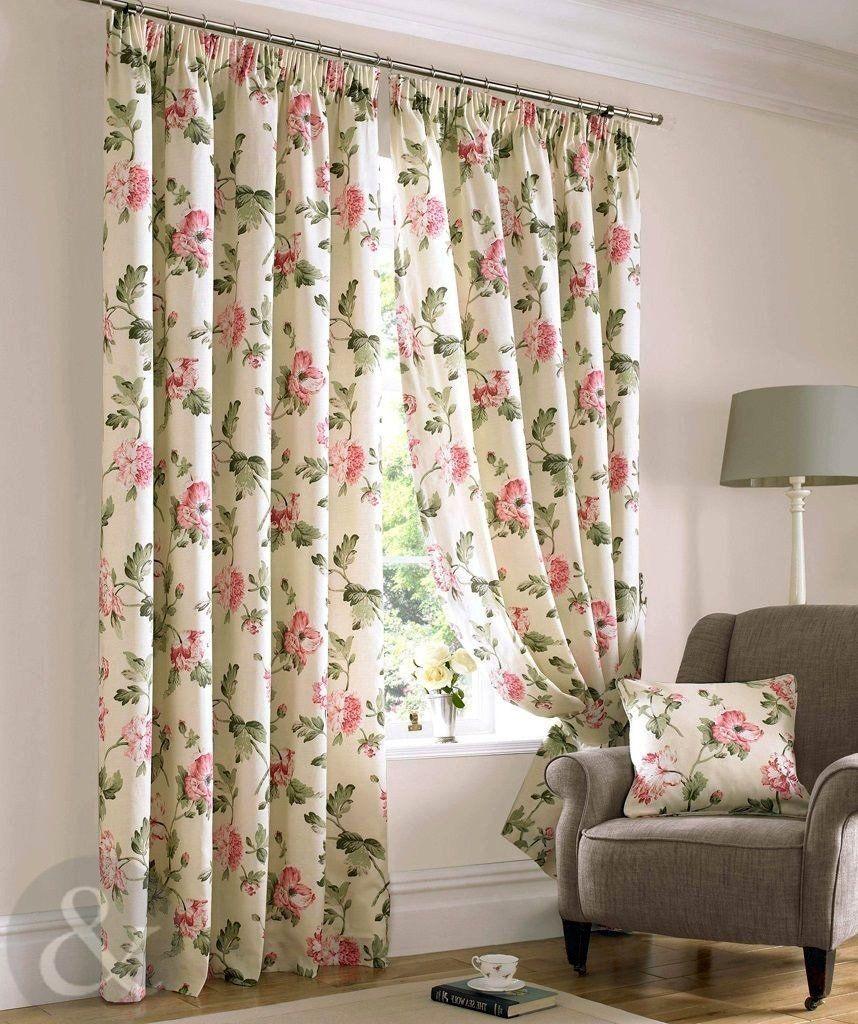 Just contempo rideaux à plis plats doublés motif fleurs: amazon.fr ...