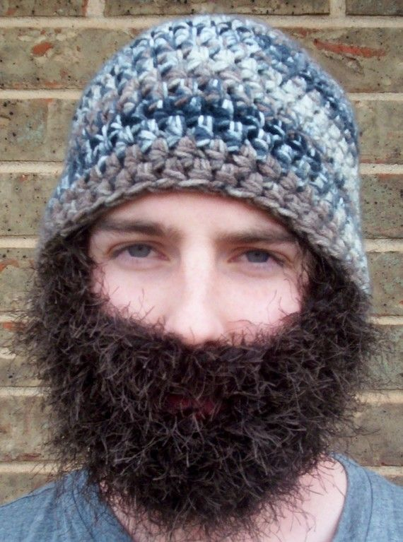 crochet hat and beard Hunter orange for Nick? | crafts and diy ...