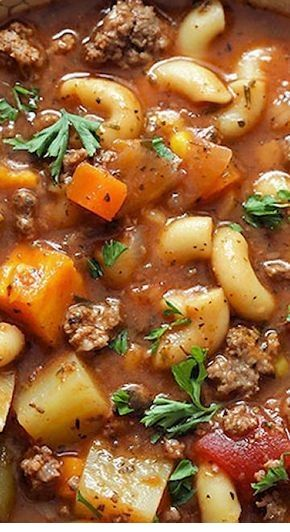 Instant Pot Hamburger Soup By fitfoodiefinds.com This Instant Pot Hamburger Soup recipe is a healthy weeknight meal that everyone will love!... #instantpotrecipes