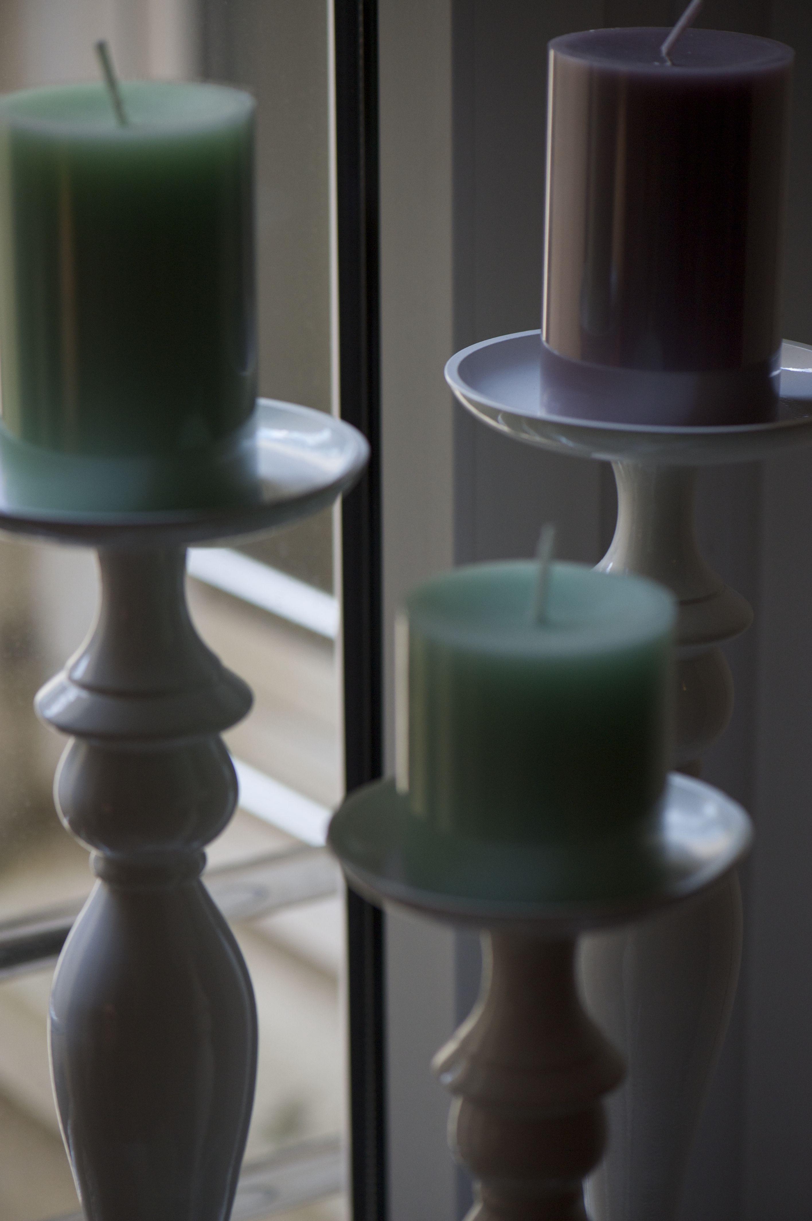 Durchgefarbte Kerzen
