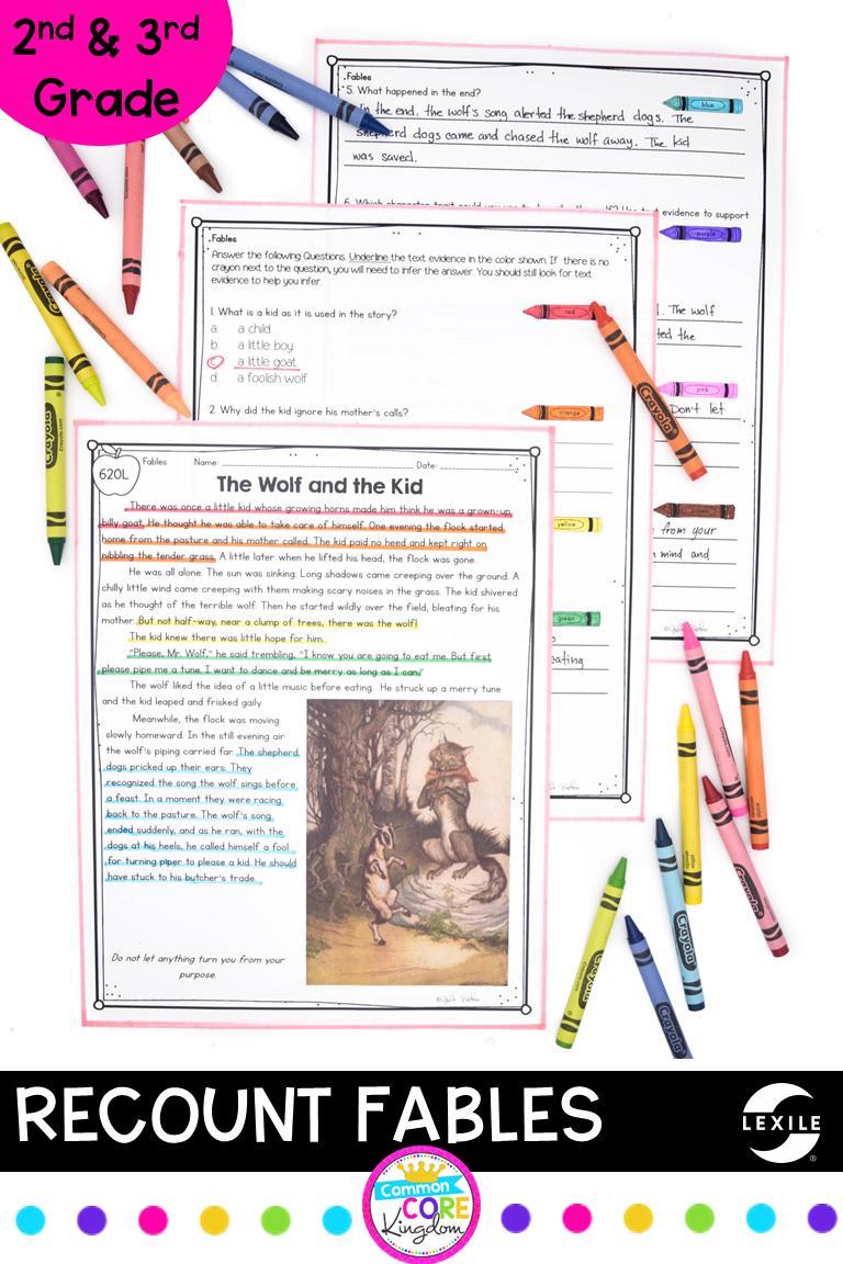 Recount Stories Fables Rl 2 2 Rl 3 2 Printable Digital Rl2 2 Rl3 2 Recount Fables Recount Stories Reading Comprehension Passages [ 1152 x 768 Pixel ]