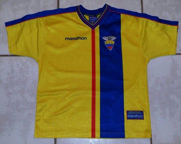 da9154410 MARATHON Ecuador National Team 1999 2000 Soccer Jersey