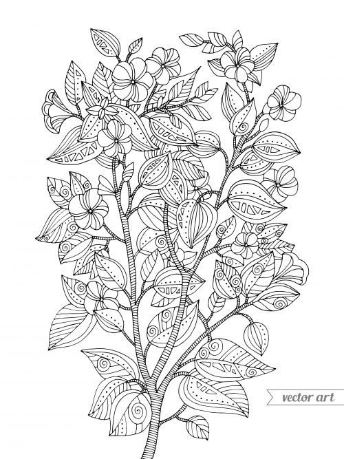 cherry blossom coloring page | poster pictures, japanese cherry ... - Cherry Blossom Tree Coloring Pages