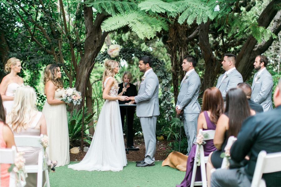 Bon San Diego Botanic Garden Wedding. Walled Garden. Garden Ceremony.
