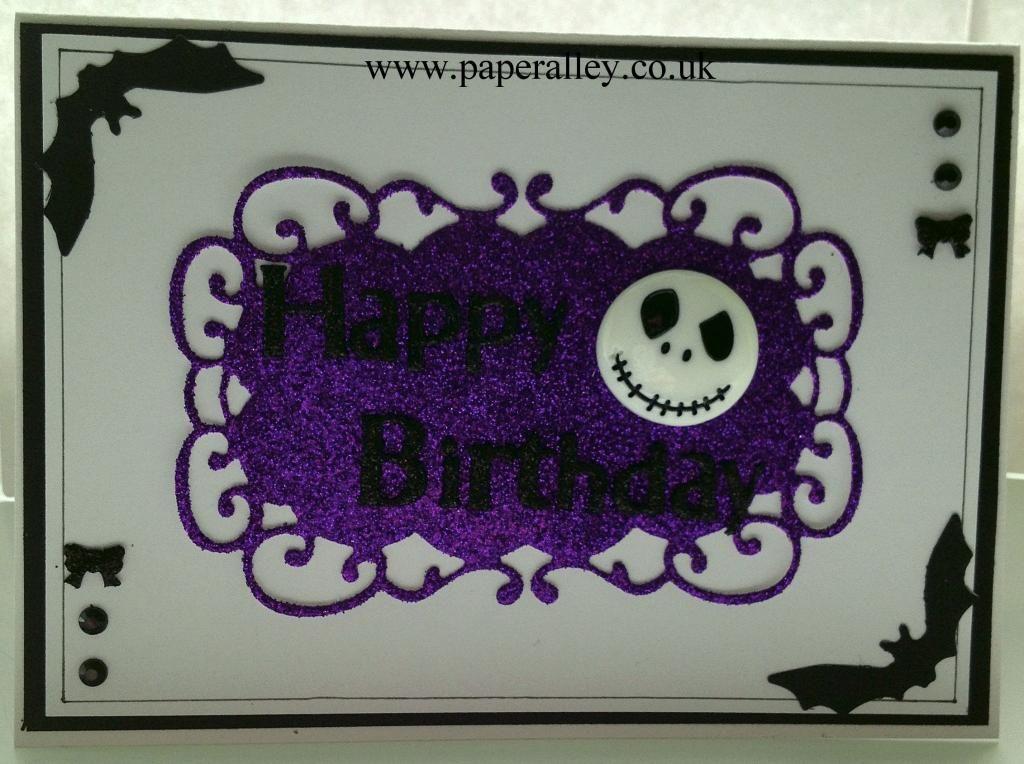 Nightmare Before Christmas Birthday Card Jack Skellington Face Www