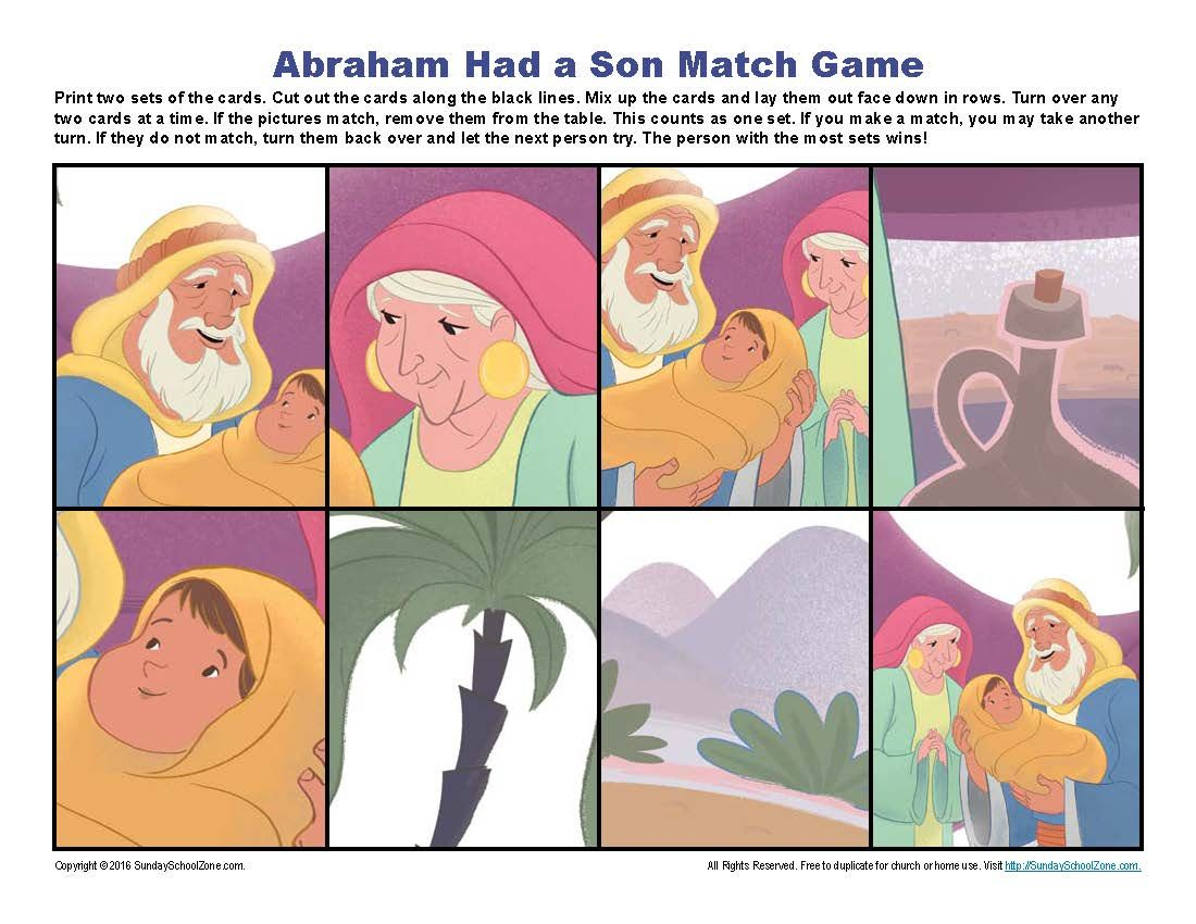 Abraham Had A Son Match Game