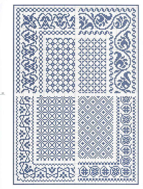 Este es un precioso esquema o patrón de punto de cruz en el que se ...