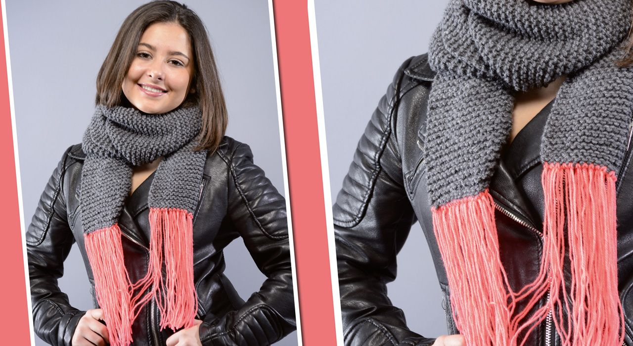tricoter une echarpe mode d'emploi