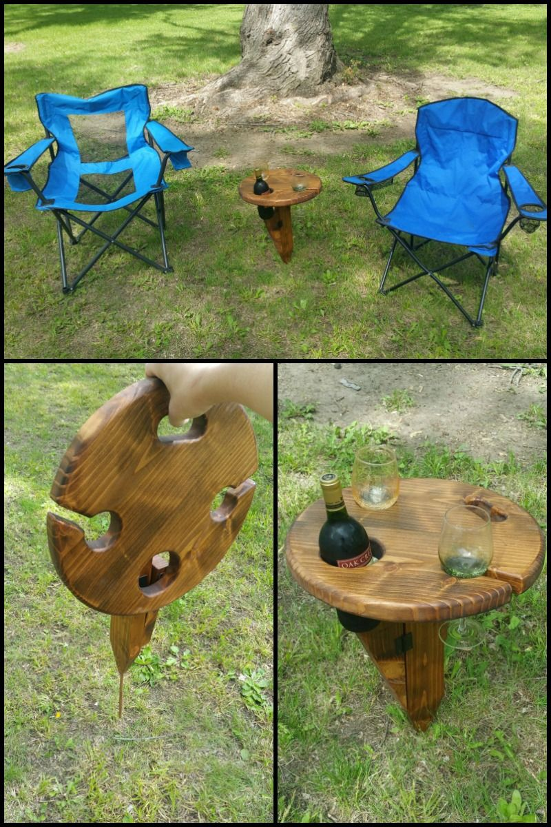 Do You Like Having A Glass Of Wine When Camping On A Picnic Or When You Re Simply Unwinding In Your Backyard Outdoor Wine Table Wine Table Wine Picnic Table