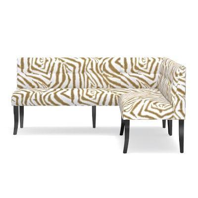 Superb Dining Banquette Printed Zebra Ikat Sand Products Ibusinesslaw Wood Chair Design Ideas Ibusinesslaworg