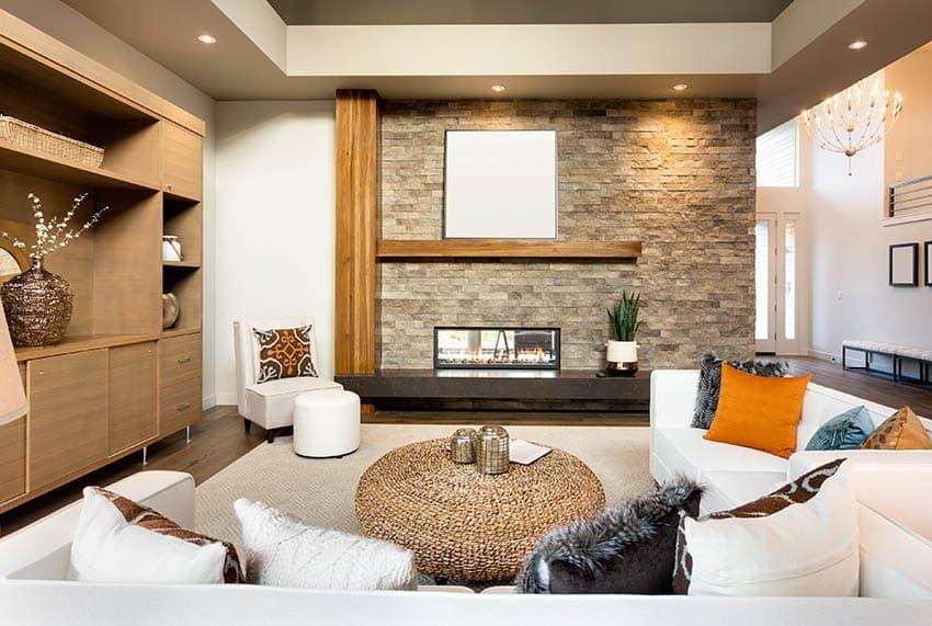 Fireplace Wood Mantel Designs In 2021 Zen Decor Living Room Zen Living Room Zen Living Rooms