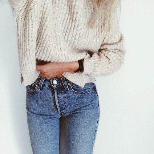 Image via We Heart It https://weheartit.com/entry/151497601/via/3041379 #beautiful #beauty #clothes #cropped #cute #denim #fashion #girl #girly #highwaisted #jeans #love #outfit #outfits #perfect #photography #pretty #style #sweater #white