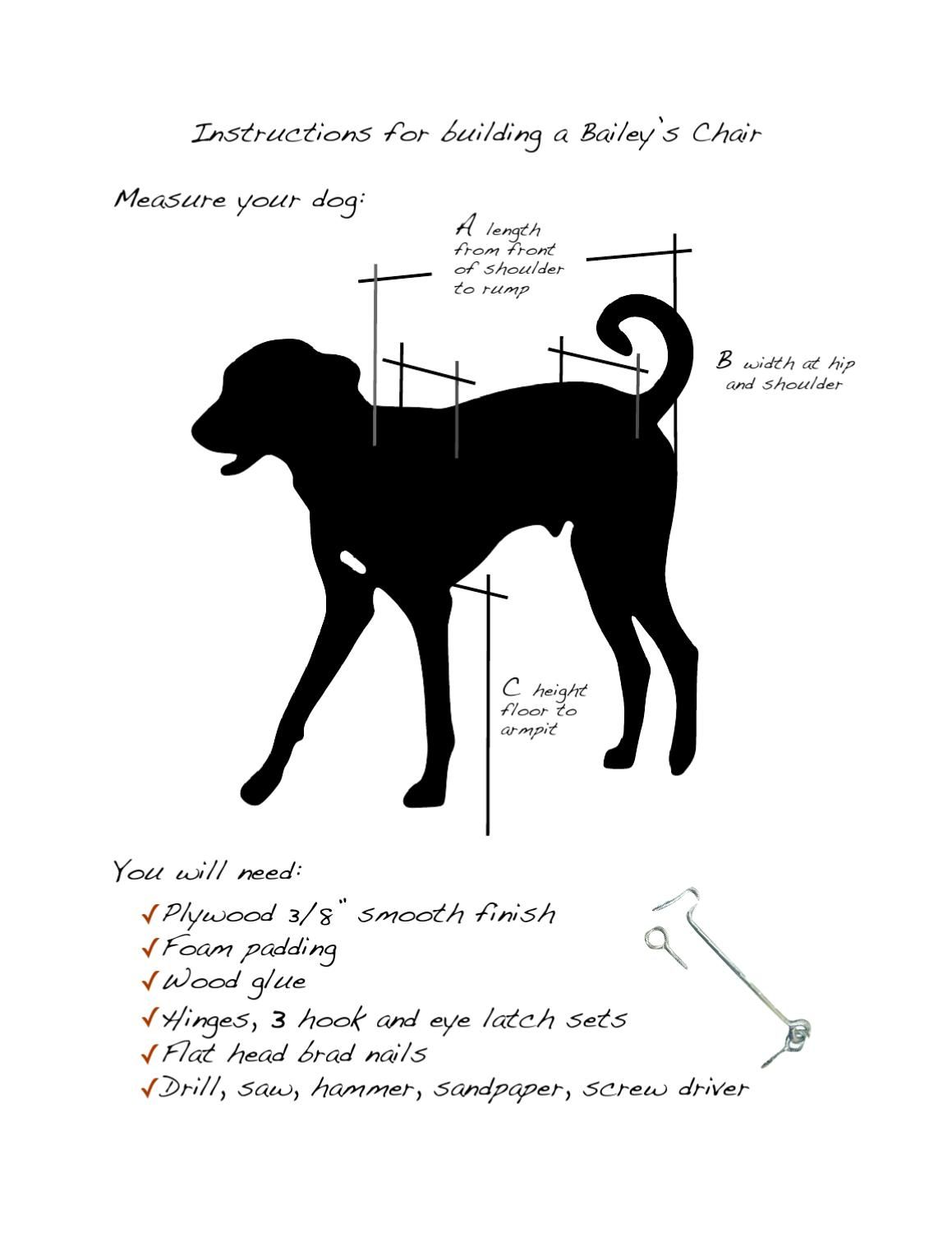 hight resolution of plans for building a bailey s chair for a megaesophagus dog