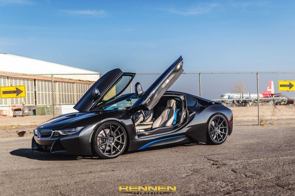 Bmw I8 On Hre Rs102 Wheels In Ilectric Blue Bmw I8 Aftermarket