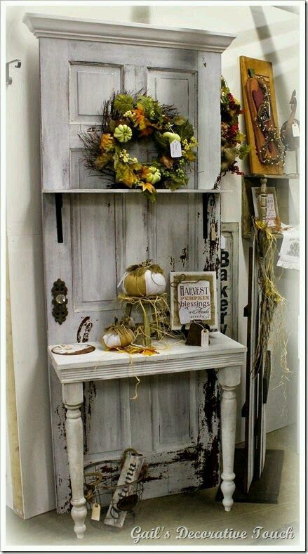 old door furniture ideas. Repurpose An Old Door Into A Potting Bench. I Have Seen This Done With Screen Doors Too. (My Front Door.whenever Finally Get New One! Furniture Ideas