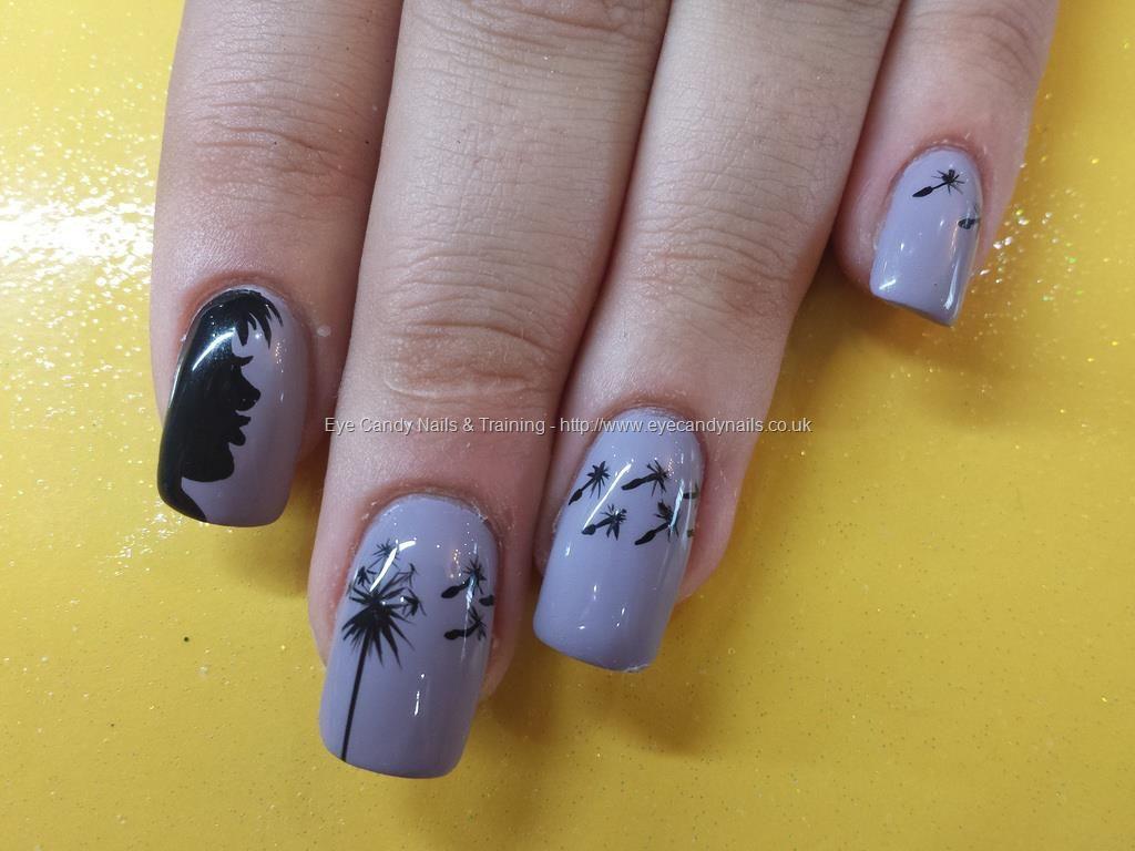 blowing the dandelion` freehand nail art Taken at:4/4/2014 5:29:26 ...