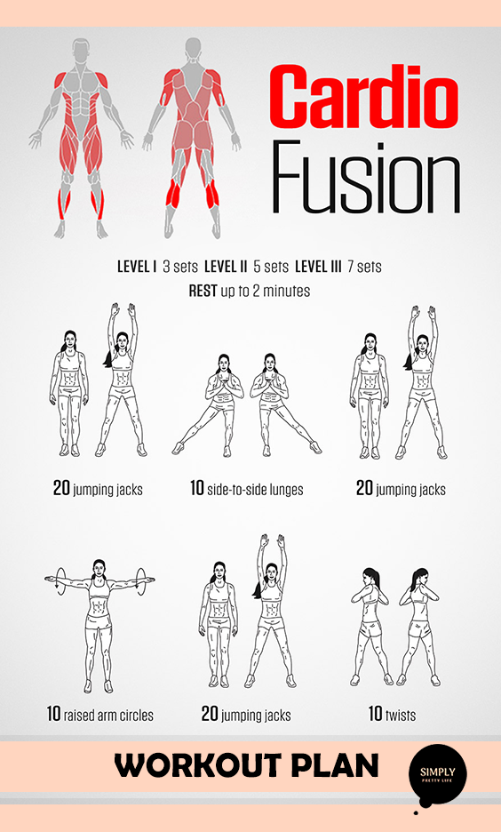 Cardion Fusion Follow The Instructions And You Will Have Amazing Results Workoutmoti Cardio Workout At Home 30 Minute Cardio Workout Best Cardio Workout