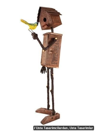 Wood Bird House                                                                                                                                                      More #birdhouses