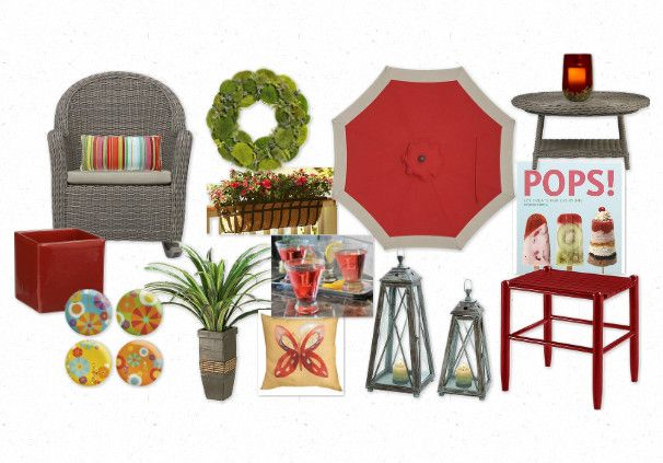 bringing red outside #patio #outdoors #design #color #decorating #maddiesplace.wordpress.com