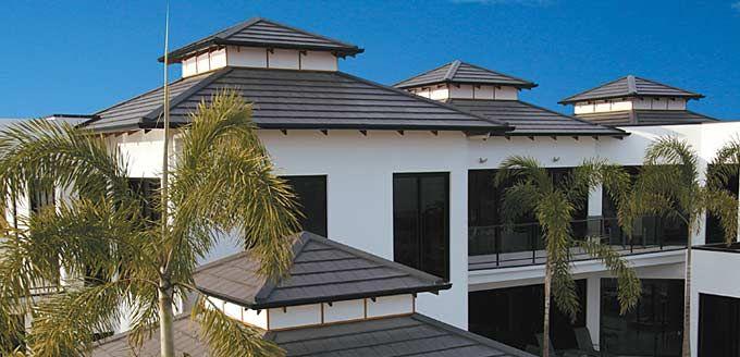 Concrete Terracotta Roof Tiles Solartile House Exterior Roof Styles Flat Roof Tiles