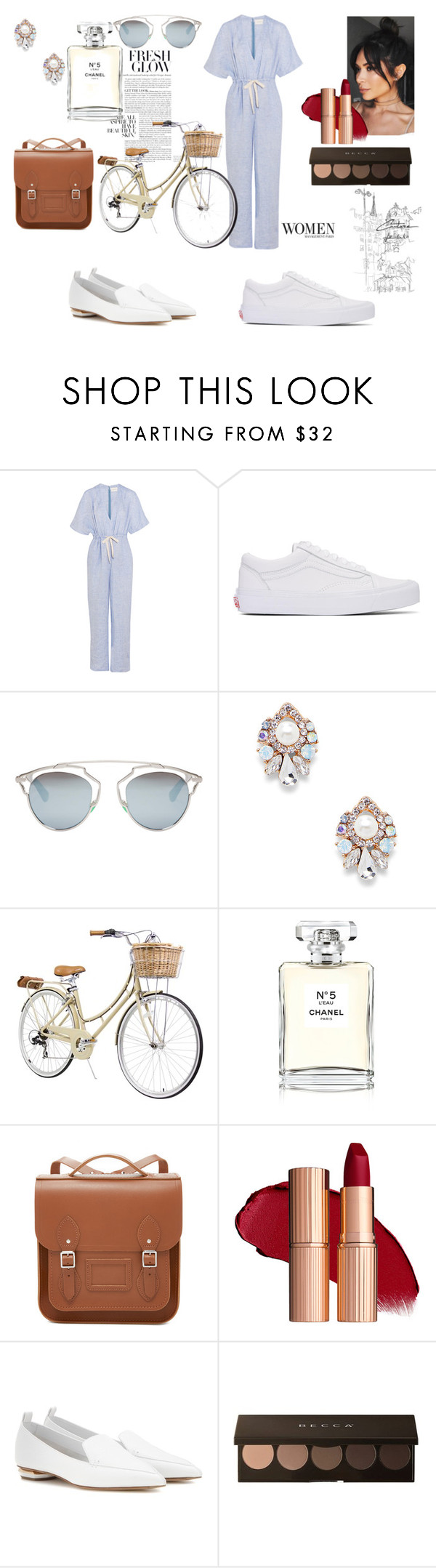 """Bounjour Paris"" by tonileemanuel-1 ❤ liked on Polyvore featuring Solid & Striped, Vans, Christian Dior, Sole Society, Chanel, The Cambridge Satchel Company and Nicholas Kirkwood"