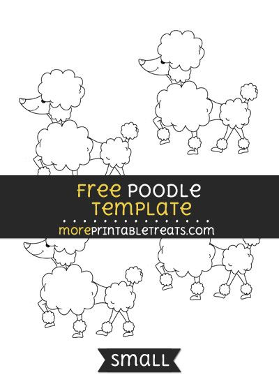 Free poodle template small shapes and templates printables free poodle template small pronofoot35fo Images