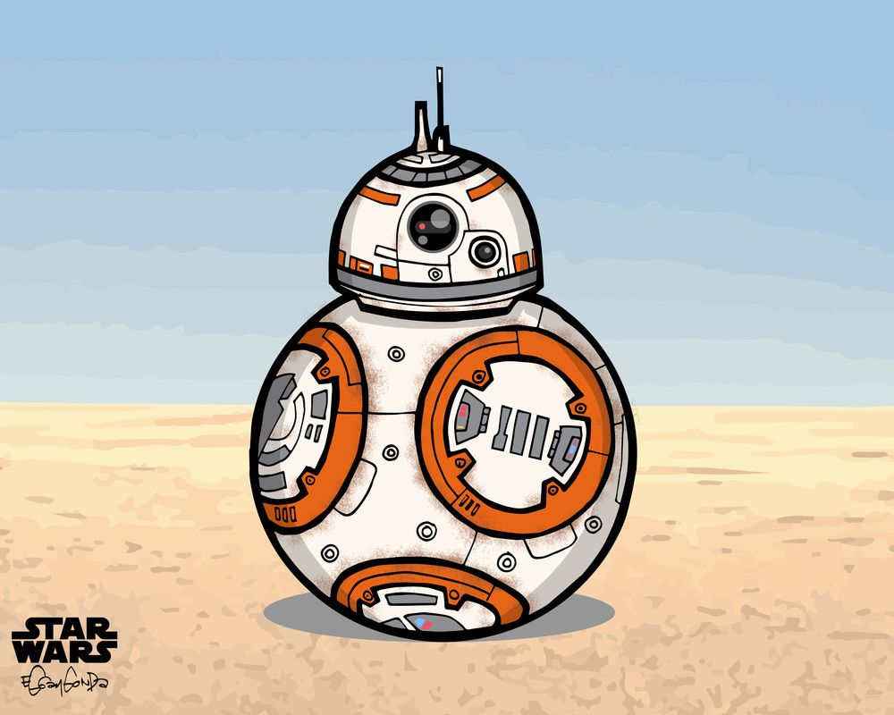 How to draw droid BB8, Star Wars characters - YouTube | BB-8 ...