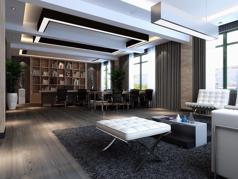 Modern ceo office design modern design ceiling office ceo for Modern minimalist office design