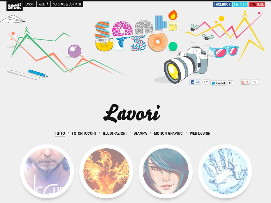 50 Awesome Websites with Extraordinary Geometry Elements | Web ...