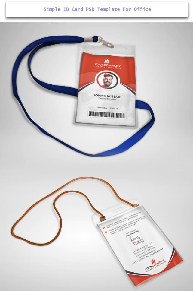 30 Creative ID Card Design Examples With Free Download | Psd ...