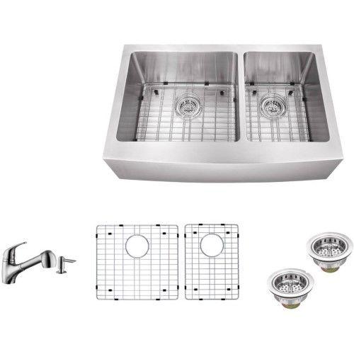 Magnus Sinks 35-7/8-in x 20-3/4-in 16 Gauge Stainless Steel (Silver