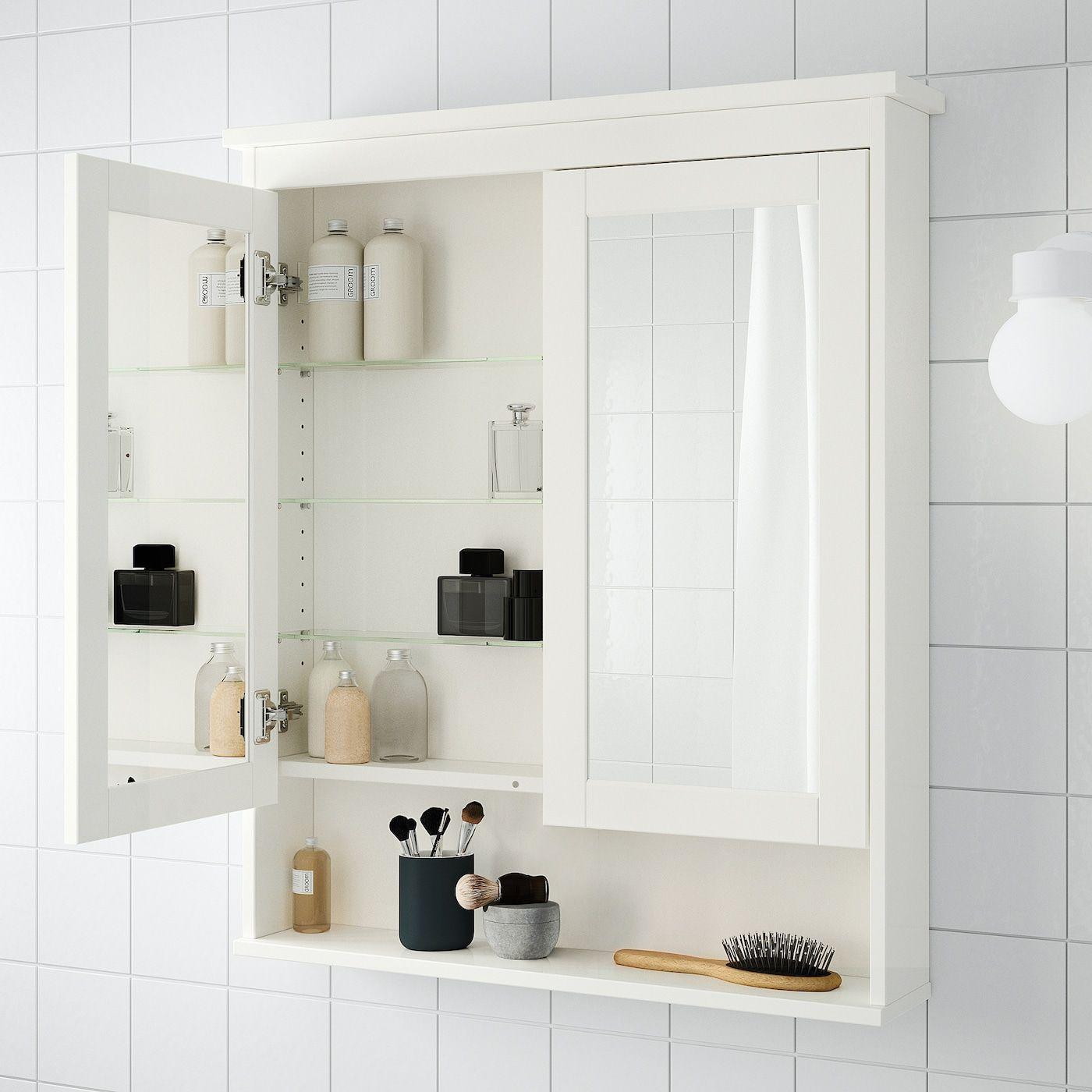 HEMNES Spiegelschrank 18 Türen - weiß - IKEA Österreich in 180180