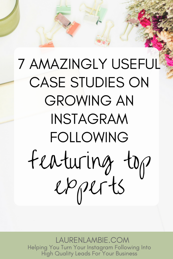 7 of the best case studies you'll find on the internet that will show you exactly how to build a large Instagram following