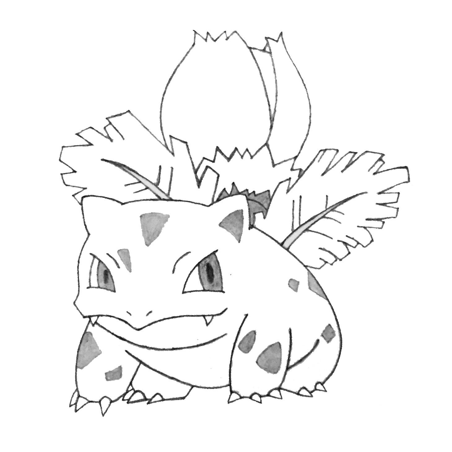 Ivysaur Pokemon Coloring Pages Pokemon Coloring Drawings