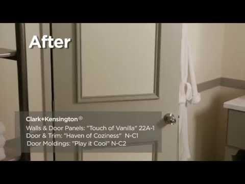 How to Makeover a Plain Interior Door - Clark+Kensington - YouTube & How to Makeover a Plain Interior Door - Clark+Kensington - YouTube ...