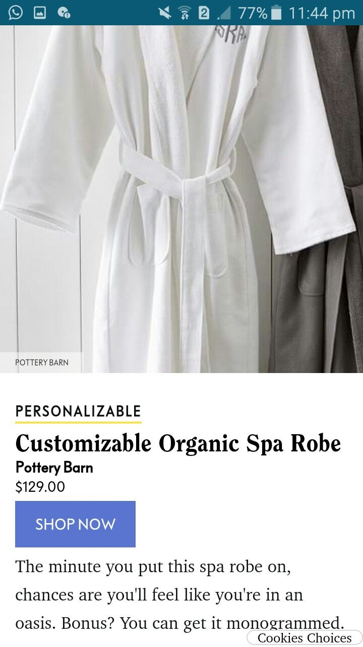 Pin By Sharon On Robes In 2020 Spa Robe Organic Spa