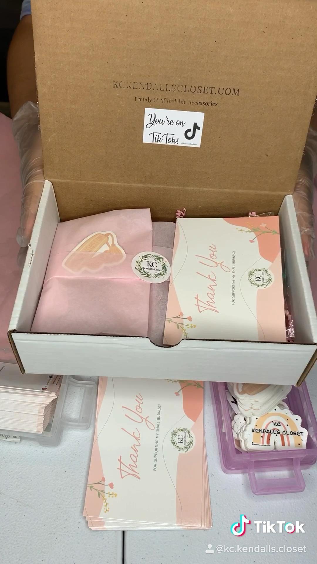 Packaging Orders On Tiktok Video Small Business Packaging Ideas Packaging Ideas Business Small Business Packaging