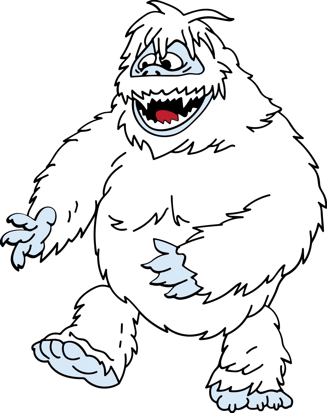 abominable snowman bumbles coloring pages - photo#12