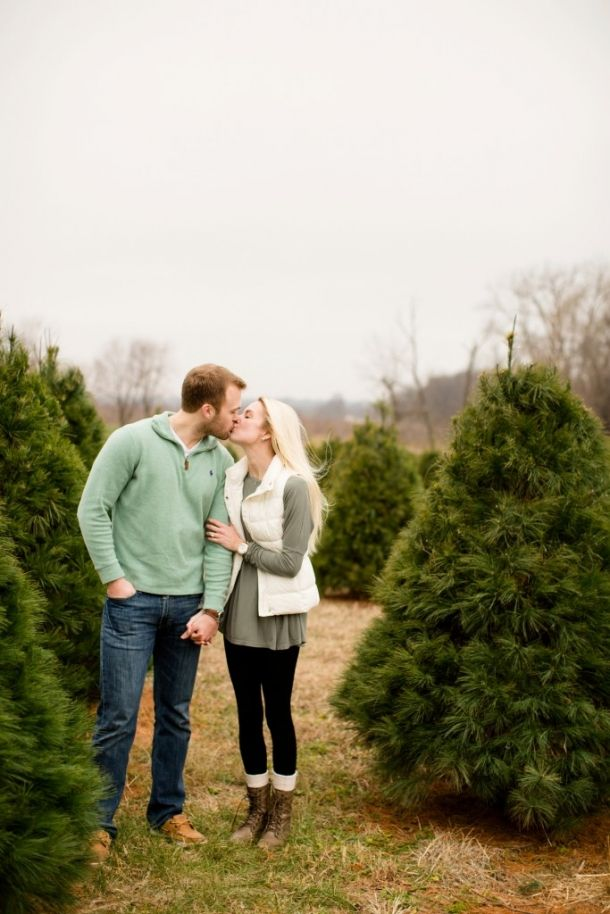 Kent And Haylee St Louis Wedding Photography Jessica Lauren Photography Tree Farm Proposal Engagement Photo Session Photography