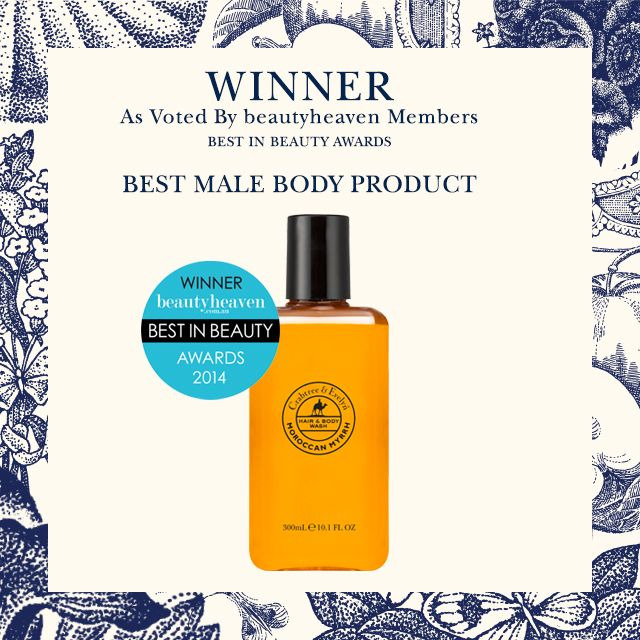 """We're very excited to announce that we won two @beautyheaven  """"Best in Beauty"""" awards. Our Moroccan Myrrh Hair & Body Wash was voted with the quote: """"It is masculine, but in a warm, spicy way, not a cold soapy way like most male fragrances. The heaviness of myrrh is lifted by fresh green citrus notes of bergamot and petitgrain and tempered with spicy, woody undertones."""" We can't complain with that!  Shop our winner at www.crabtree-evelyn.com.au"""