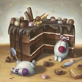 Peter Smith artist - Let Them Eat Cake - Artmarket Contemporary Art Gallery