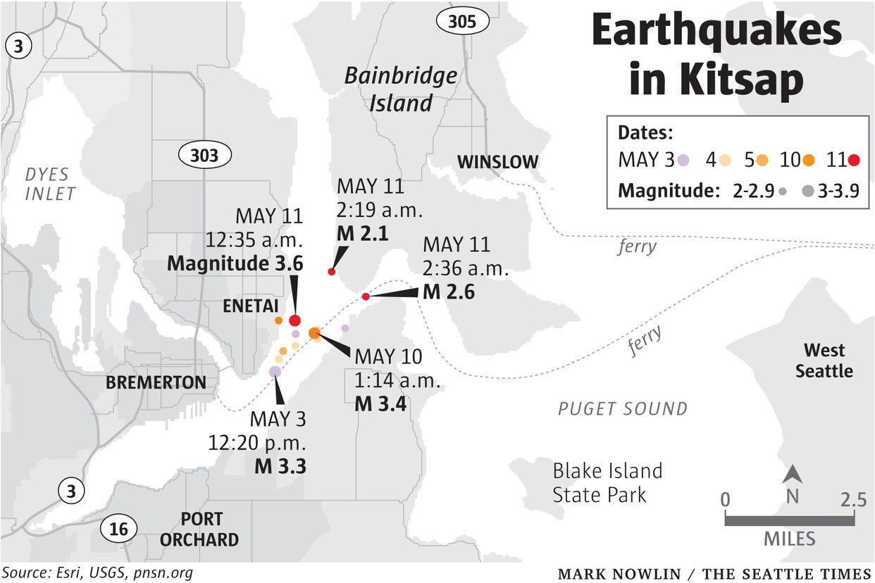 Developing Earthquake Swarm Rattling Residents In Seattle Whidbey Island Seattle News Seattle Area