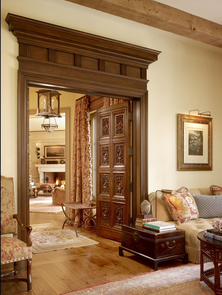 End of hallway decor  doors and moulding  interior  Pinterest  Doors Window and Interiors